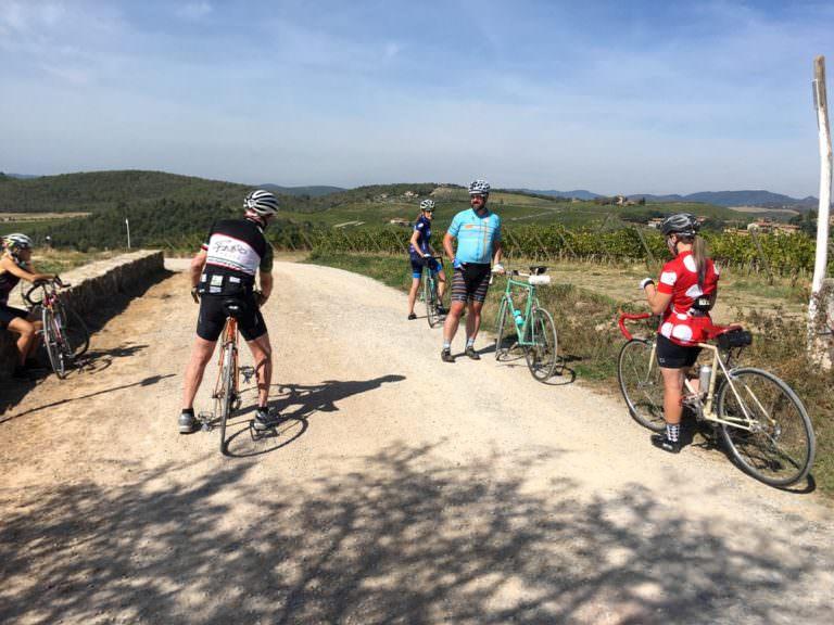 Biking route of Tuscany