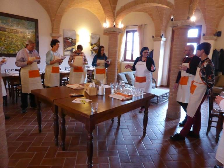 Cooking all dressed up with an apron as souvenir