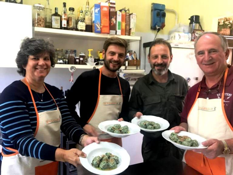 Cooking class with truffles, making gnudi