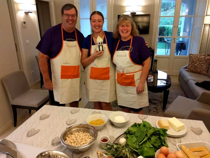 Delivered cooking lesson to private accommodation