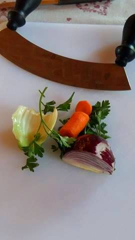 Mezzaluna for chopping veggies