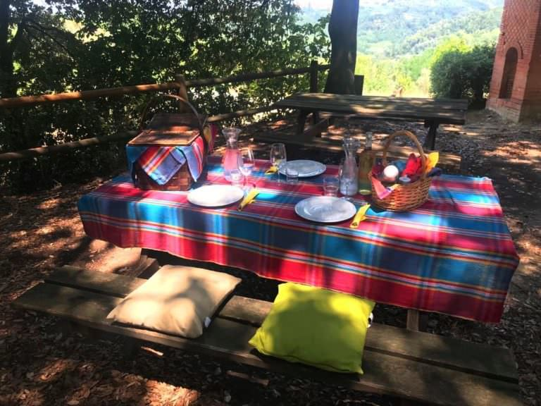 Delicious foods in a stunning location