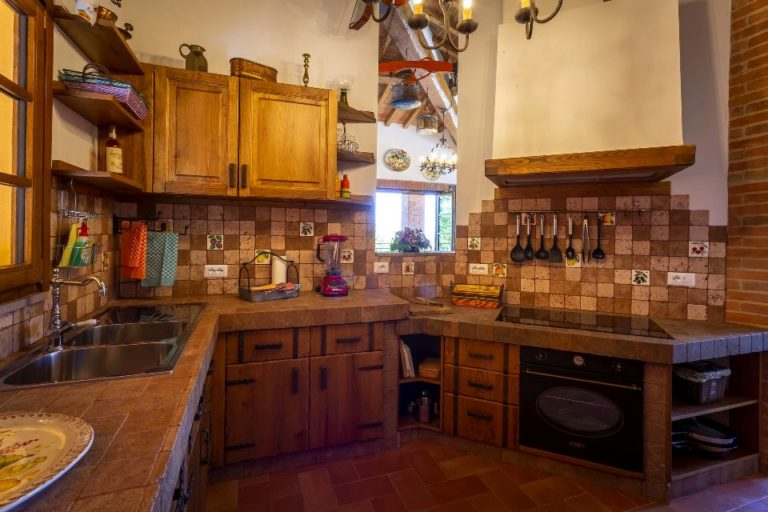 Large kitchen with any equipment for your comfortable stay in Tuscany