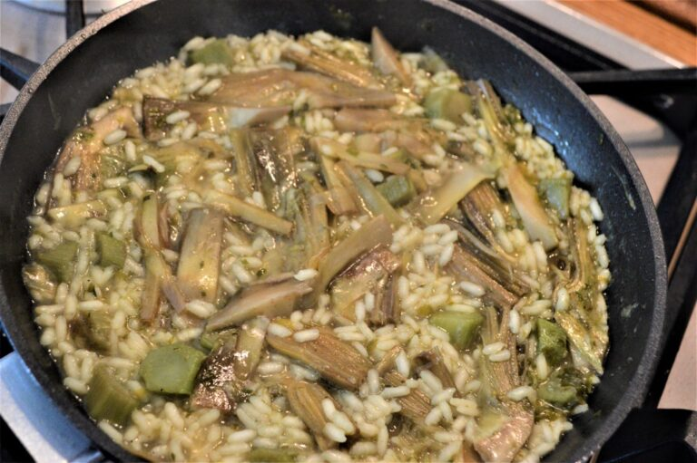 Risotto with artichockes