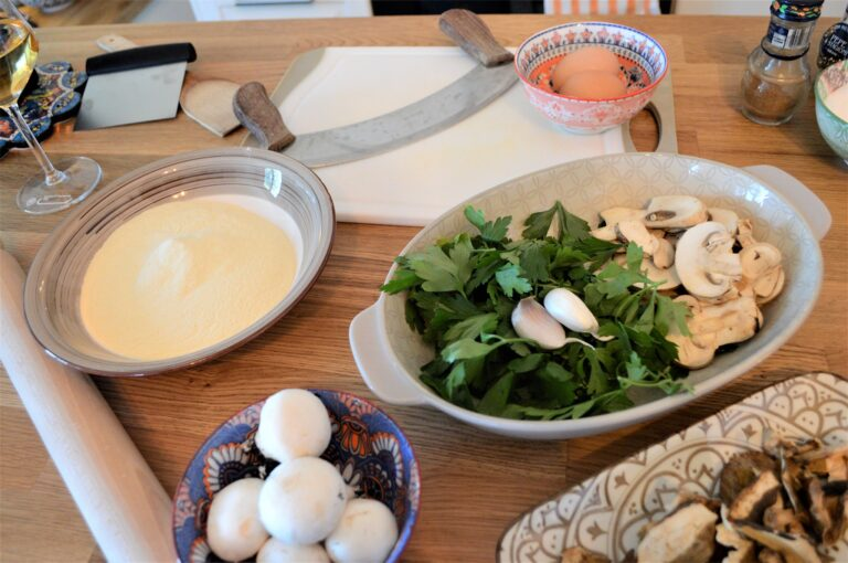 Ingredients for the risotto