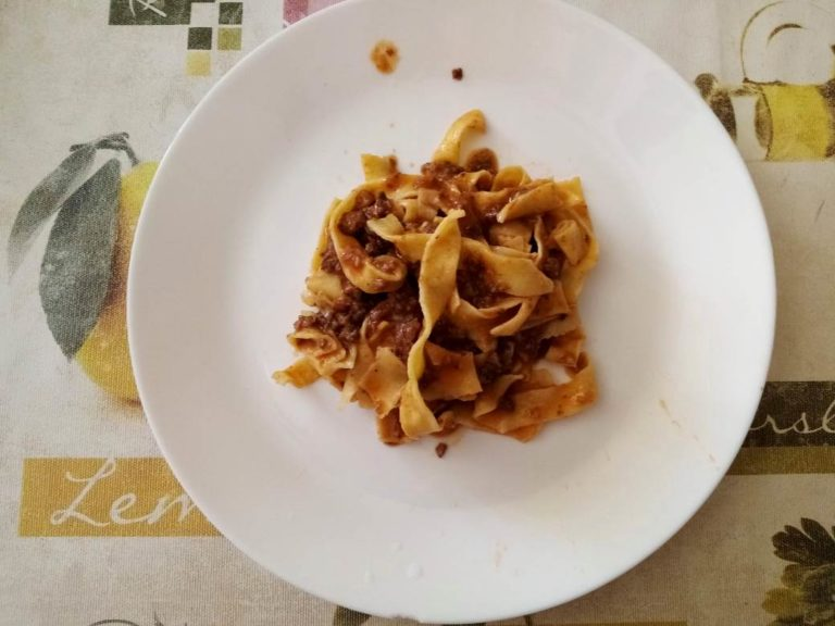 The best matching to tagliatelle is Tuscan ragù