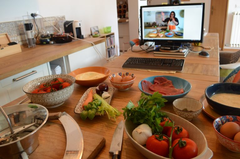 Arianna's cooking classes from home