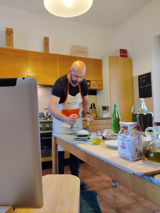 Private online cooking classes in live streaming