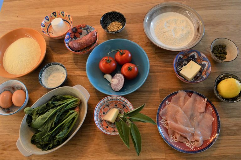 Arianna's cooking classes from her home