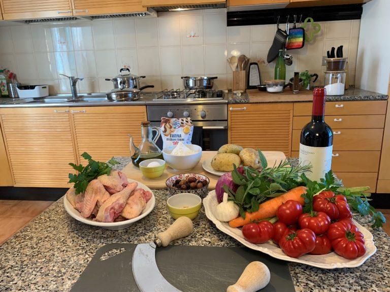 Private cooking lesson during quarantine