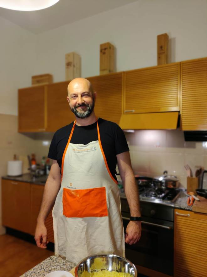 Live streaming private cooking classes with Massimo