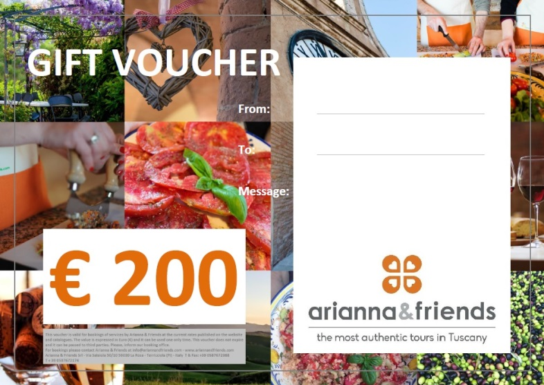 A model of our customized holiday vouchers