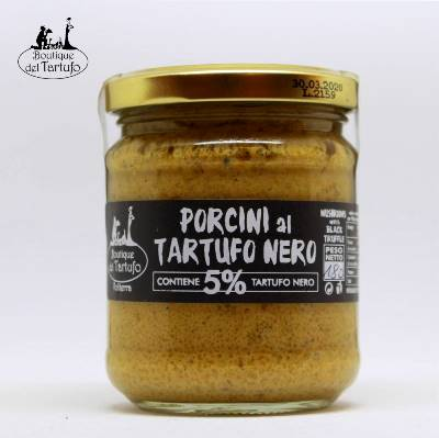 Sauce of Scorzone truffle and porcini mushrooms