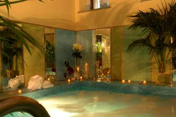 Hotel indoor pool and jacuzzi