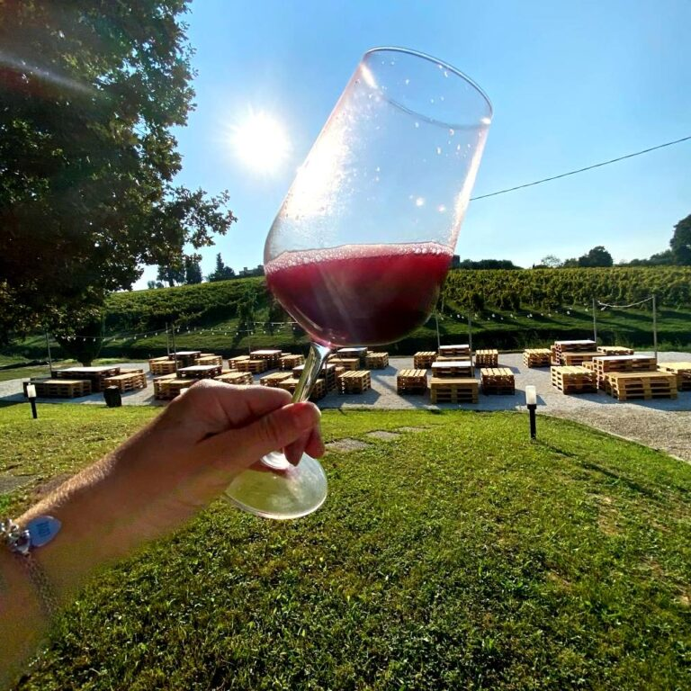 The ruby color that characterizes Tempranillo di Toscana