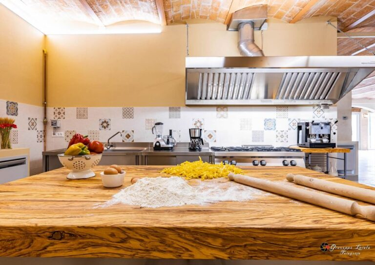 Professionally equipped kitchen in the villa