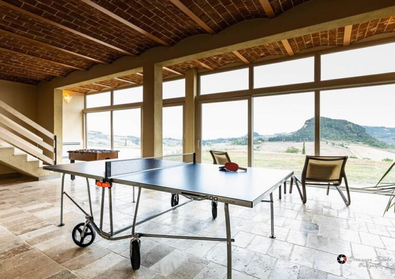 Table tennis and fussball in panoramic room