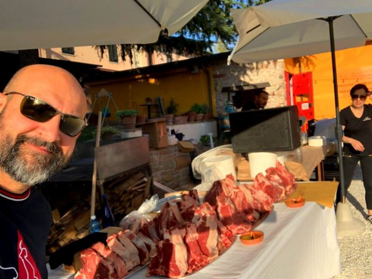Meat from a local butcher's of San Miniato
