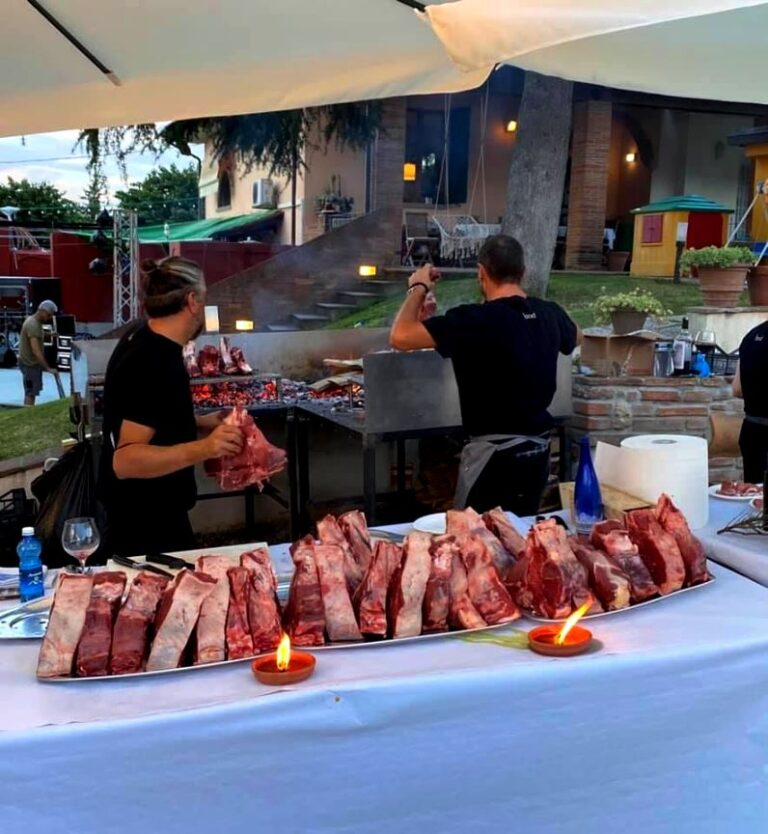 Fiorentina steaks waiting to barbecue